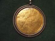 продам золотой медальон 1910 г с изображением императора Австрии