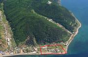 Продам земельный участок 2, 43 га в п.Листвянка на берегу Байкала.
