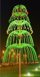 Светодиодная модель фейрверка пятиярусный фонтан