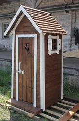 Туалеты и беседки на зависть соседям. Производство